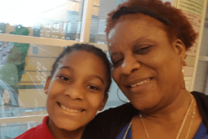 Zada and her mom at AF Hartford Academy Elementary