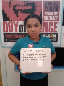 Students on day of silence