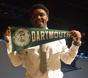 James at Senior Signing Day in 2016