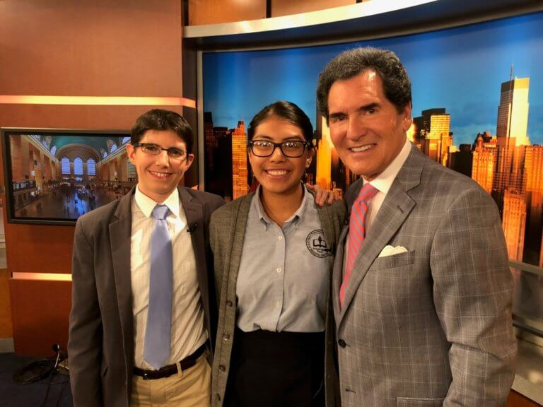 Debate Team Captain and Coach on Fox 5 News