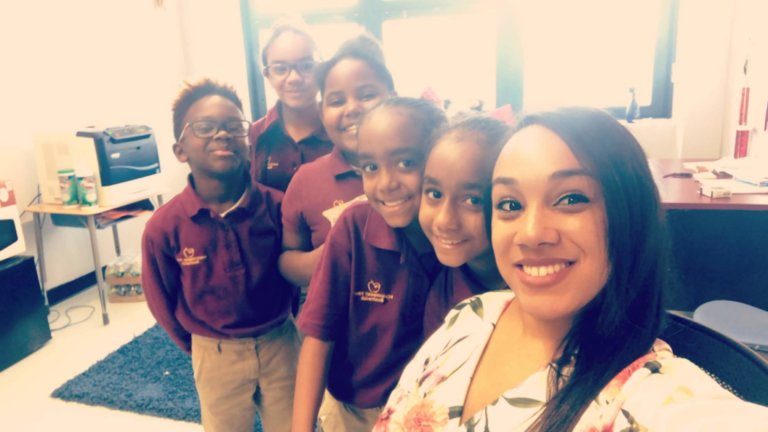 Dr. Johnson and her students