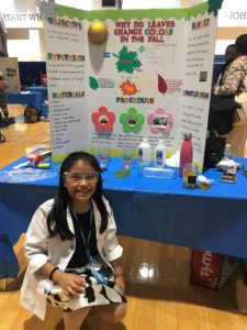 Emily at science fair