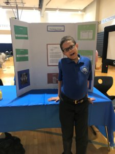 Dameon at the science fair