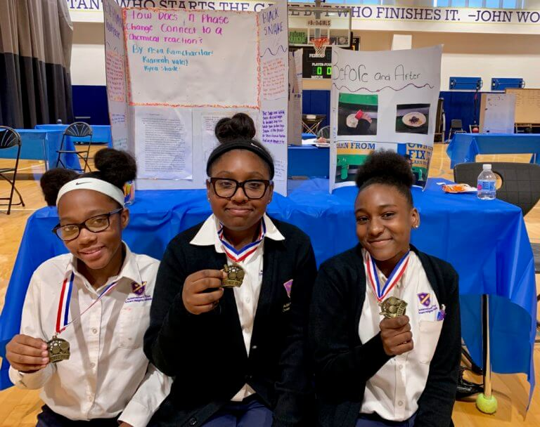 group of students at the science fair