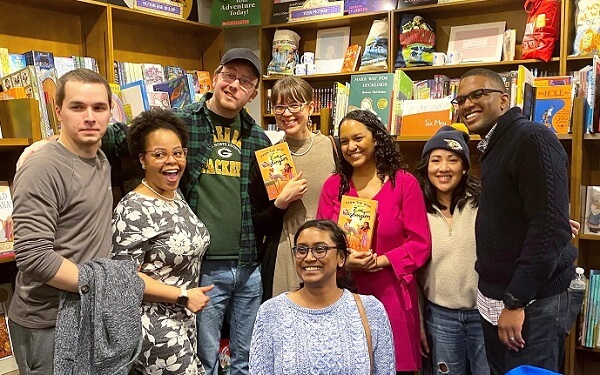 Janae and her team at a book release