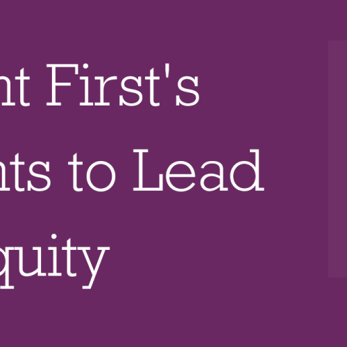 Our Lead for Racial Equity Commitments